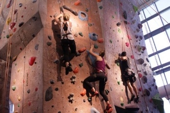Climbing at Ohio State photo by Ris Twigg