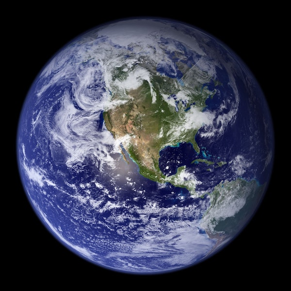 classic image of planet earth from space